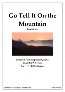 Go-Tell-It-On-the-Mountain-Saxophone-Quartet---SATBarAATBar---pdf